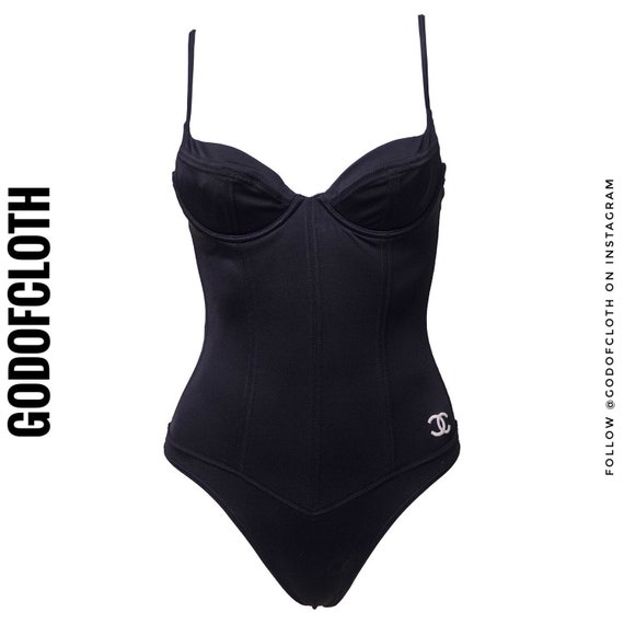 Chanel Bustier Black One-Piece Swimsuit