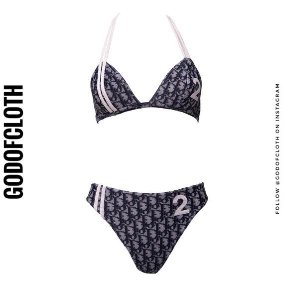 Christian Dior Monogram 2 Stripe Two-Piece Bikini