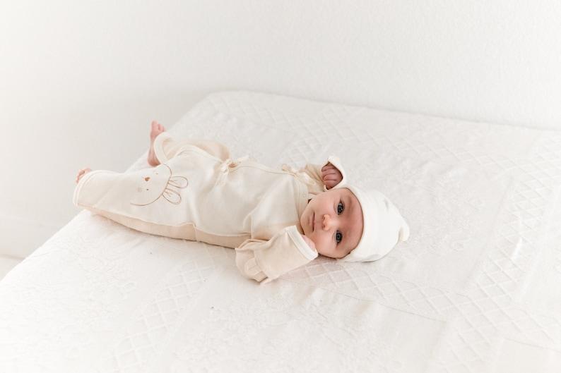 Organic Baby Romper Natural Baby Romper,Newborn Romper,0-3 months Super Soft Baby Romper Bunny Romper 3-6 months Baby Romper