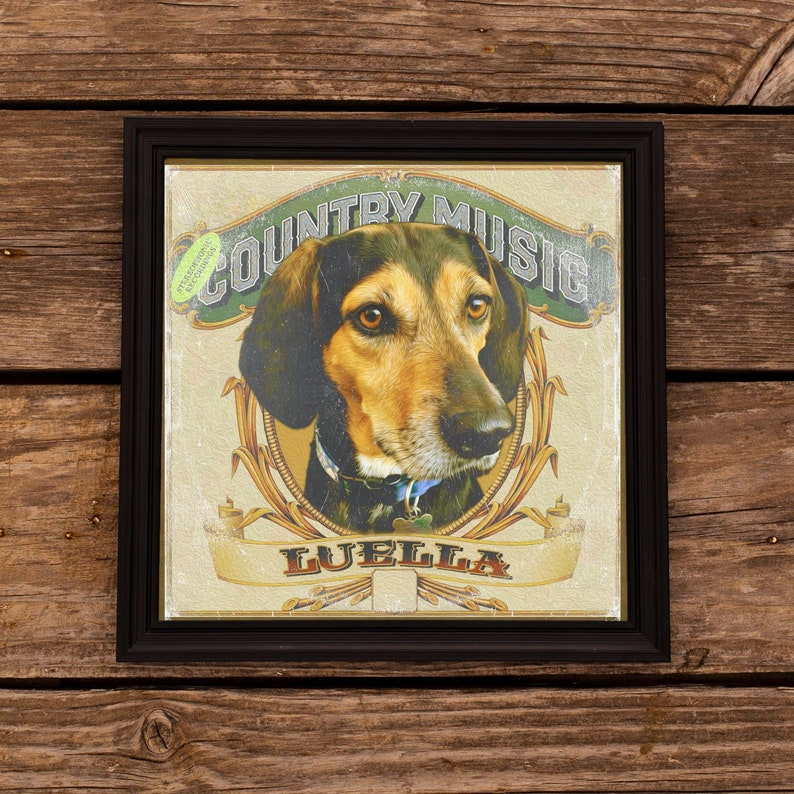 Your Pet on a Country Western Album CustomPrint!