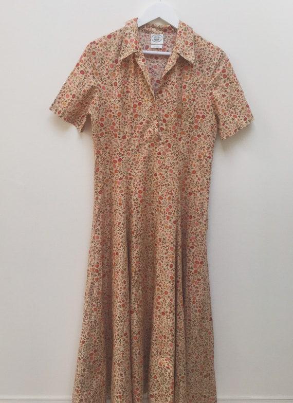 Vintage floral Laura Ashley maxi dress