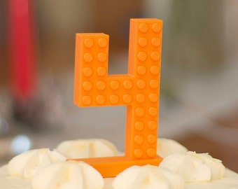 Enjoyable Lego Cake Topper Etsy Funny Birthday Cards Online Alyptdamsfinfo