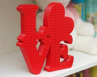Valentines Wreath Red LOVE Sign