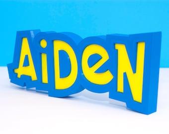Custom Pokemon Name Plate, Personalized Name Plate, Streamer Gift, Gamer Gift