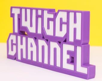 Custom Twitch Channel Name Plate, Streamer Gift, Gamer Gift