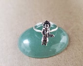 Q925 Kachina Doll Ring Lady Ring Size 6 to 9 US Small Kachina Doll on Ring Solid Ring Simple Ring Native American Ring Southwest
