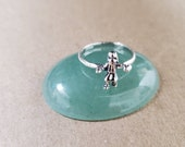 Q925 Small Little Charm Kachina Doll Ring Lady Ring Size 6 to 9 US Small Indian Dancer on Ring Boho Solid Ring Simple Southwest Ring