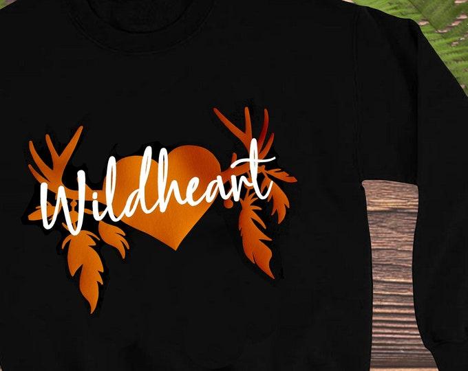 Featured listing image: Wild Heart - Child's Sweatshirt -3-10 Years