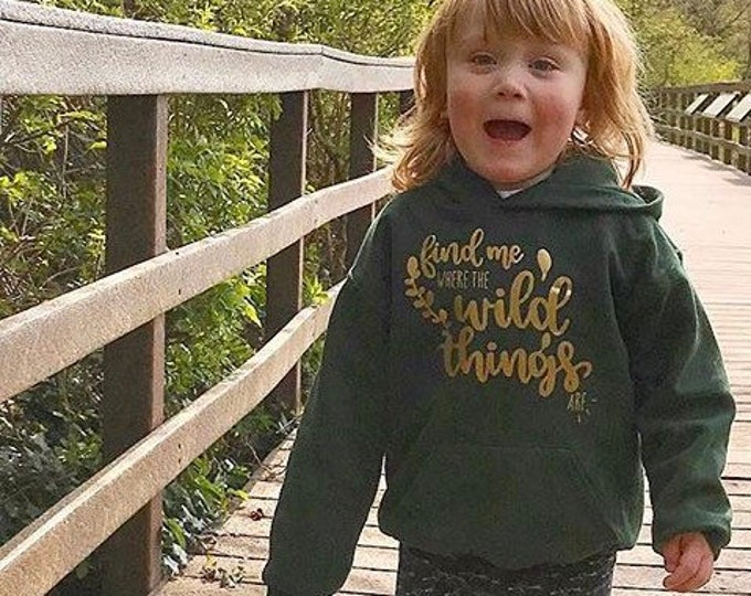 Featured listing image: Find Me Where The Wild Things Are Hoodie - 3-10 Years