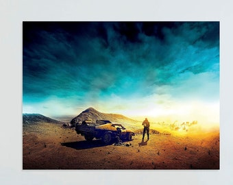 Mad Max Mel Gibson Classic Movie Art Silk Poster 12x18 inch Man and The Dog 004