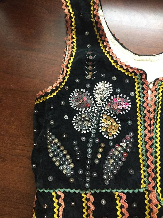 Vintage Handmade Polish Child's Folk Dance Costum… - image 3