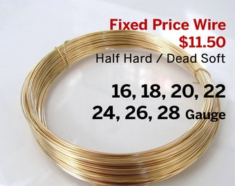 10 ft 14k Gold Filled Wire 28ga gauge Made in USA Dead Soft Round