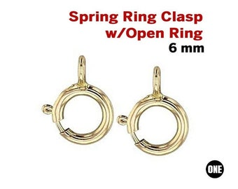 14k Gold Filled Spring Ring Clasps Closed Ring 14k Gold Filled Spring Ring Clasp 6 Pcs 6mm GC561 Clasps