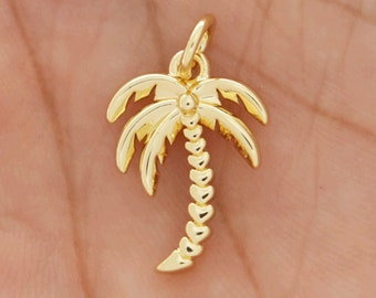 Pave Palm Tree Bracelet Rose Gold Palm Tree Dainty Rhinestone Palm Tree Zircon Palm Tree Palm Tree Connector Mini Palm Tree