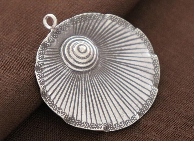 Karen Hill Tribe Silver Large Sun Ray Charm, TH-8099-99