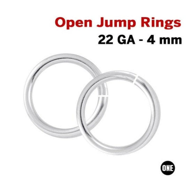 25 Pcs 925 Sterling Silver 4 mm Open Jump Rings 22 Gauge, SSJR224