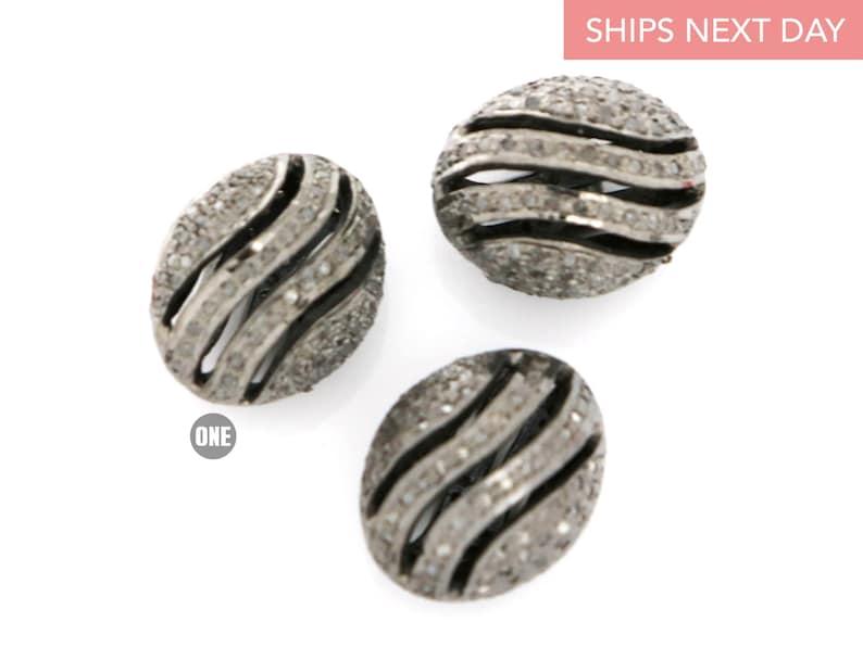 46-DB Pave Diamond Handmade Spacer Bead,