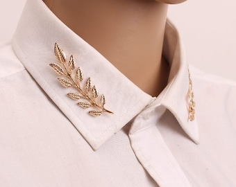Vintage Skeleton Hands Brooches Shirt Sweater Lapel Pin Badge Collar Clips
