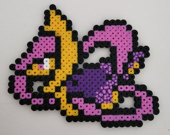 Detective Pikachu Pixel Art Keychain Hama Perler Beads