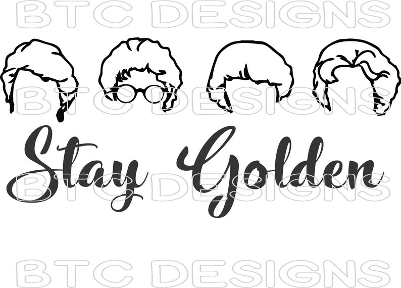 Download Stay Golden PNG SVG digital download silhouette cricut | Etsy