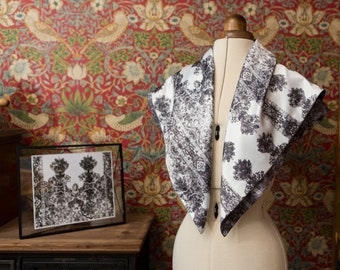 Artisan Scarf Made From Hand Etched Fabric Design: inspired by a screen at Petworth House