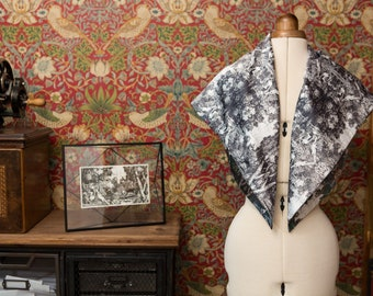 Artisan Scarf Made From Hand Etched Fabric Design: inspired by a tapestry at Oxburgh Hall