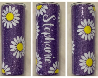 Lilac Color Changing Cup with Daisies