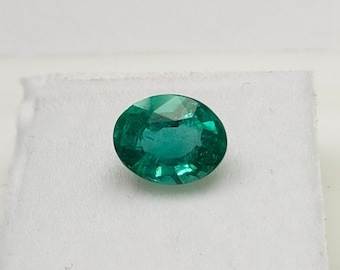 2.15 Cts Certified Natural Emerald Oval Cut Pair 8x6 mm Unheated Loose Gemstones