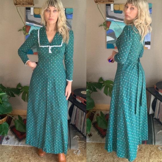 70s-80s vintage handmade prairie maxi dress