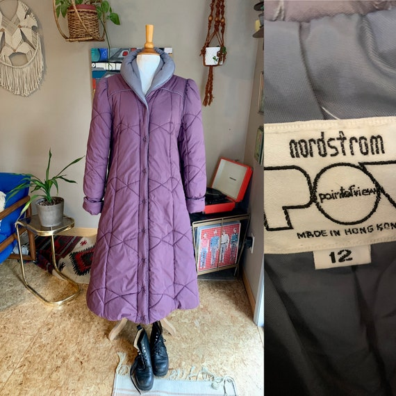 80s vintage Nordstrom's puffer-trench coat