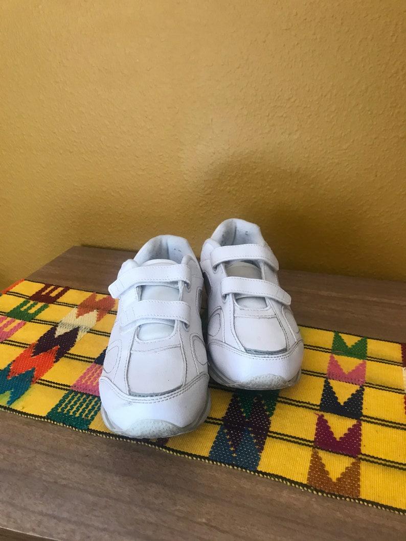 80s vintage bianco Velcro scarpe da tennis scarpe da tennis 7 D2mtUwap