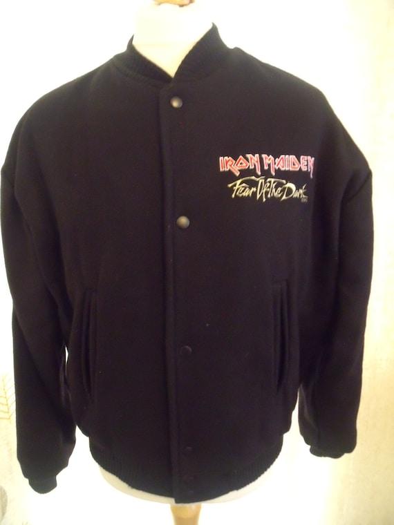 Vintage Iron Maiden bomber jacket