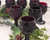 Vintage Avon Cape Cod small wine glasses - set of 4
