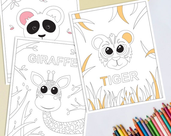 - Printable Jungle Animals Coloring Pages For Kids Safari Etsy