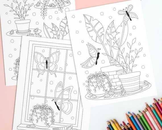 Plant Coloring Pages for Adults Printable Flowers and