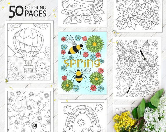 Spring Coloring Pages Printable Coloring Activity for Kids