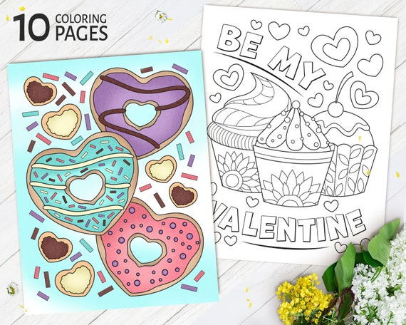 Valentine's day Coloring Pages for Kids Printable Love