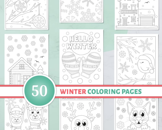 50 Winter Coloring Pages for Kids Printable Christmas