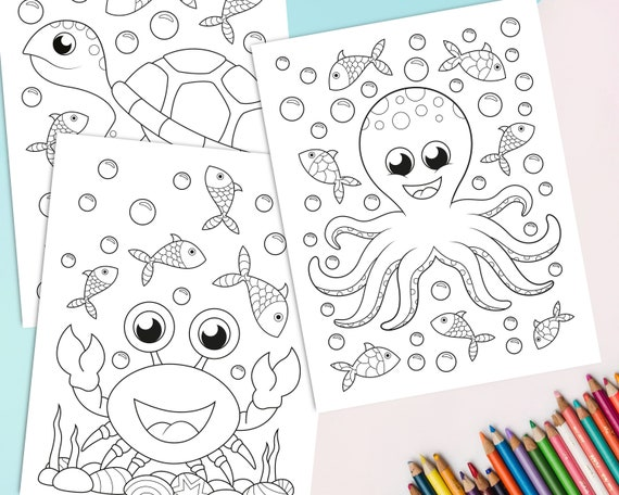 Ocean Animal Coloring Pages - Mom. Wife. Busy Life.