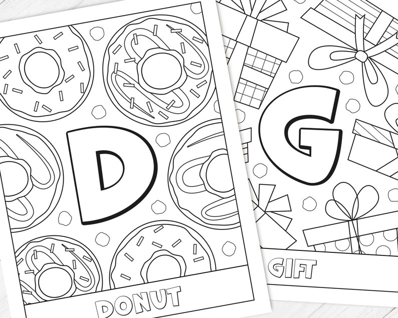 Party Games Paper Party Supplies Baby S First Abc Book Alphabet Coloring Pages Printable Abc Coloring Book For Baby Shower