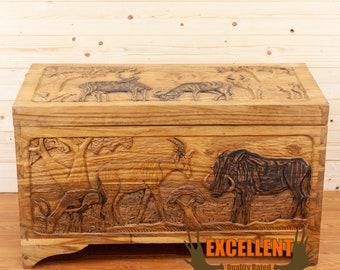 Hand carved cedar oddite