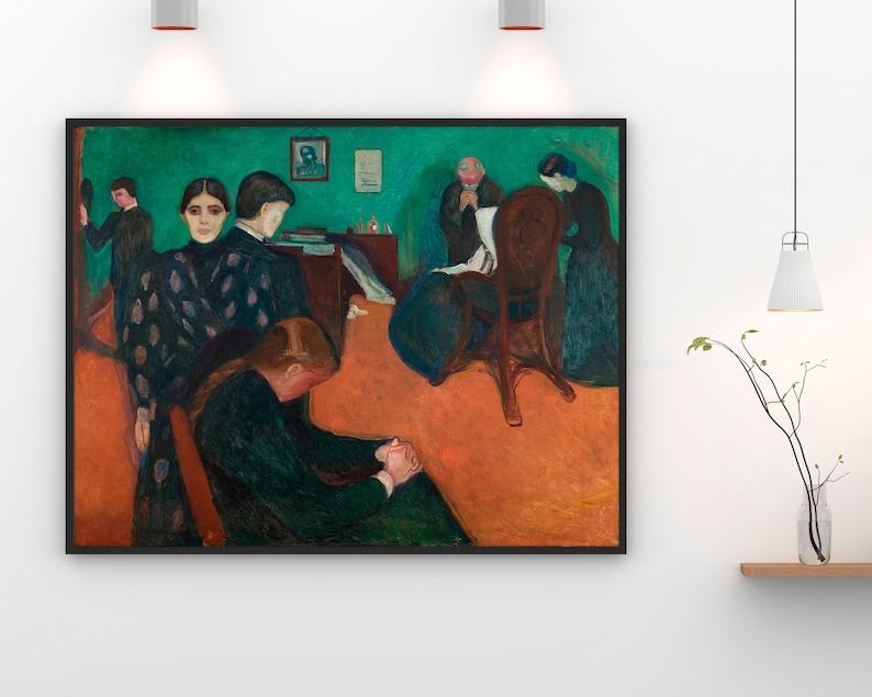 Edvard Munch Art Death in the Sickroom Modern Art ...