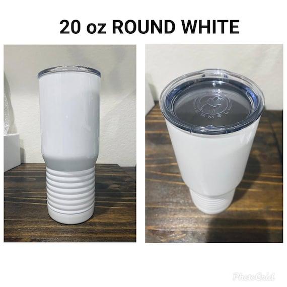 Termo Rayos del Necaxa16 oz stainless steel travel mug white Silver and White Coffee mug Necaxa