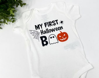 Baby first Halloween onesie, Halloween baby body suit, Halloween baby clothes, Fall baby outfit, Funny baby clothes, Infant halloween