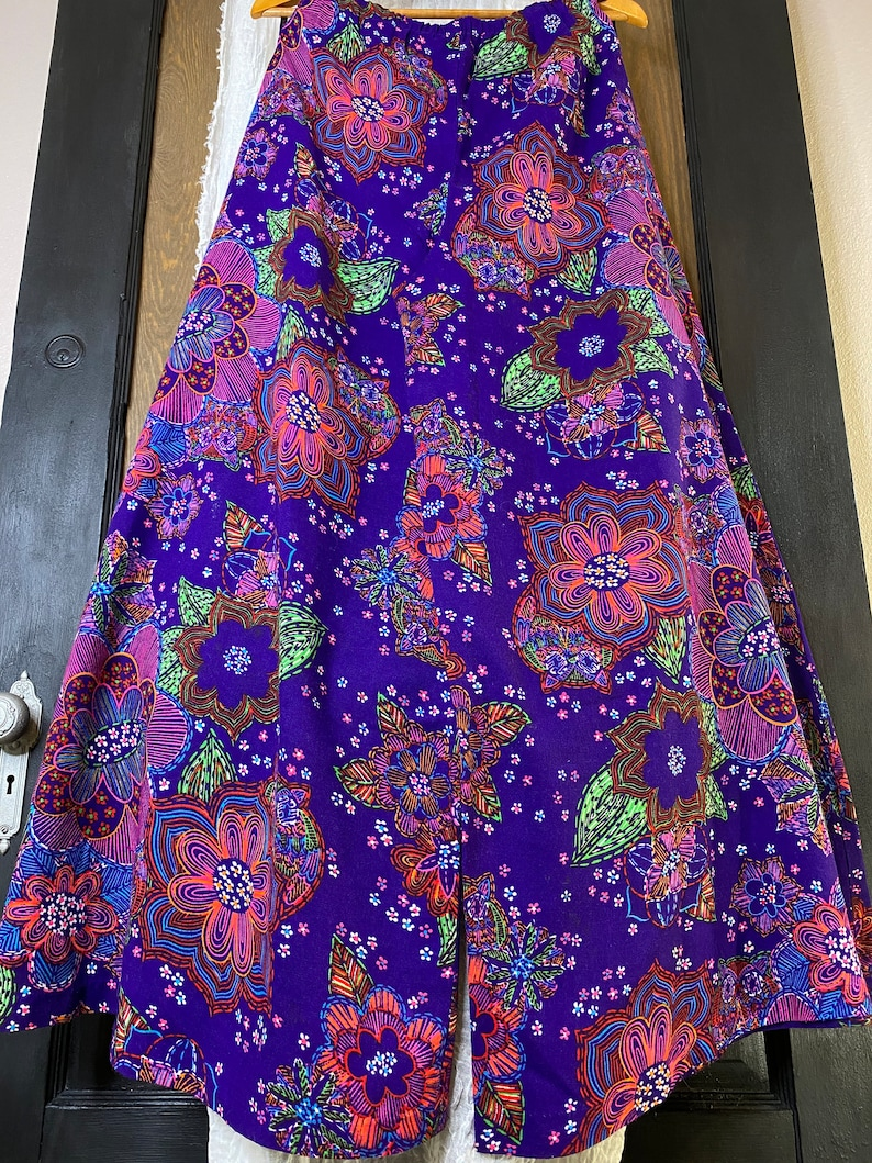 70s Day Glow Psychedelic Palazzo Pants