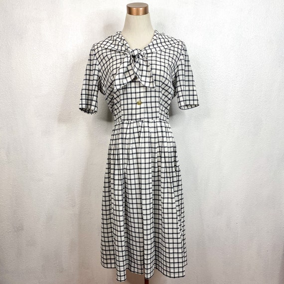 Vintage Gingham Nautical Dress