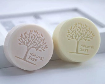 Natural Soap with Tree Circle Silicone Soap Mold- 1 cavities - circle silicone mold plaster mold Ice mold chocolate mold circle candle mold