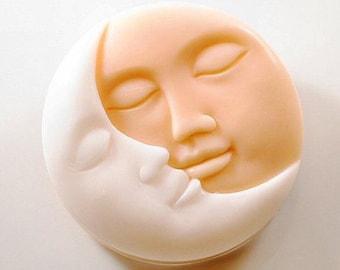 Sun and Moon Double face Silicone Mold - 1 cavities - face silicone molds plaster mold chocolate mold moon candle mold moon soap mold