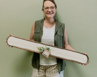Over 3 foot long Soy Dough Bowl candle. Handmade is small batches. Makes for a beautiful mantel piece or a on a table.