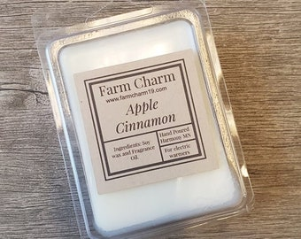 Apple Cinnamon soy wax melts. Hand Poured in small batches to assure quality and attention to details. Made in the USA